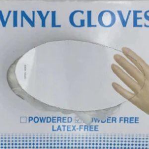 Boxes of 100pcs Disposable Vinyl Gloves.